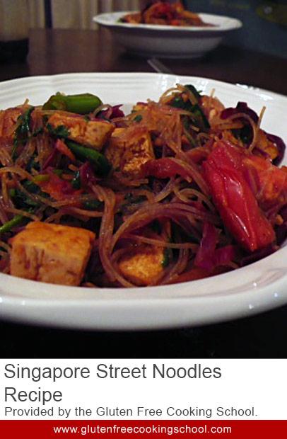 gluten free singapore street noodles recipe