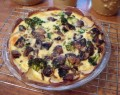 gluten free mushroom and broccoli quiche recipe