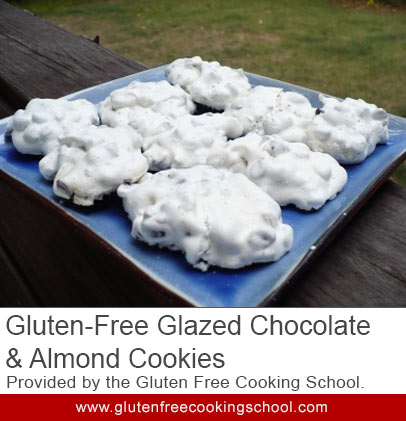gluten free forgotten Glazed Chocolate Almond cookie recipe