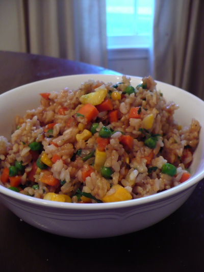 Gluten Free Fried Brown Rice