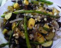 gluten free roasted summer veggies over brown rice recipe
