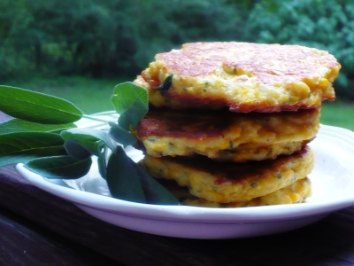 gluten free savory sage corn cakes recipe