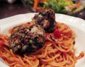 gluten free spinach meatballs over spaghetti recipe