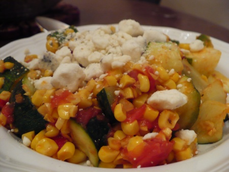Zuchinni & Corn Saute - gluten free recipe