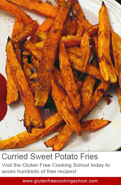 gluten free curried sweet potato fries recipe