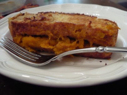 gluten free pumpkin stuffed french toast recipe