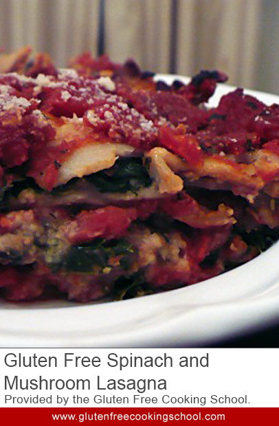 gluten free spinach and mushroom lasagna recipe
