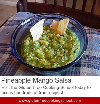 gluten free pineapple mango salsa recipe