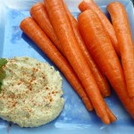 Black Olive Hummus with Carrots