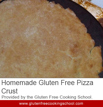 homemade gluten free pizza crust recipe