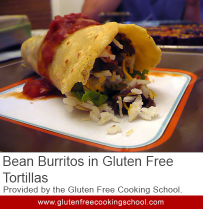 gluten free bean burritos in tortillas recipe