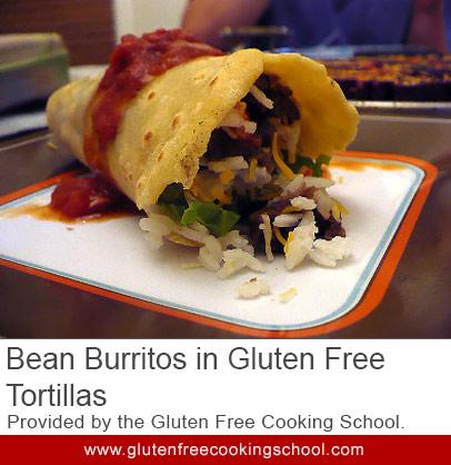 gluten free bean burritos in tortillas recipe