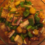 Tofu with Pineapple and Bell Peppers