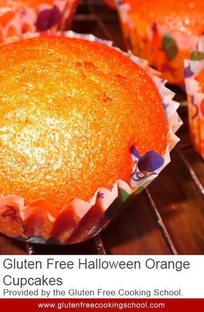 Orange Halloween Cupcakes for Your Gluten Free Dairy Free Trick-or-Treaters