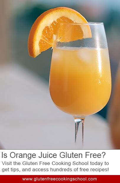 is orange juice gluten free