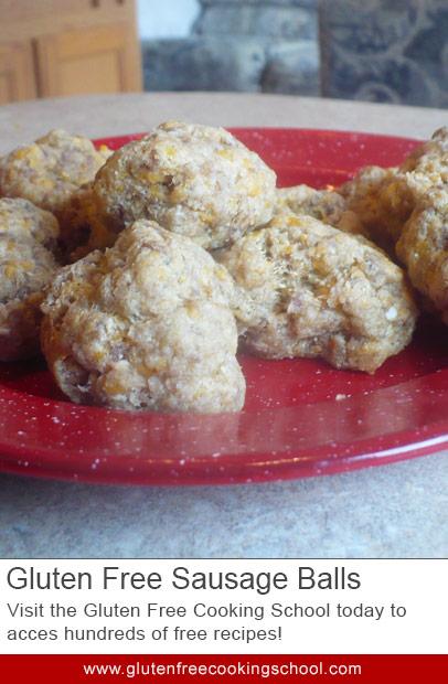 gluten free sausage balls recipe