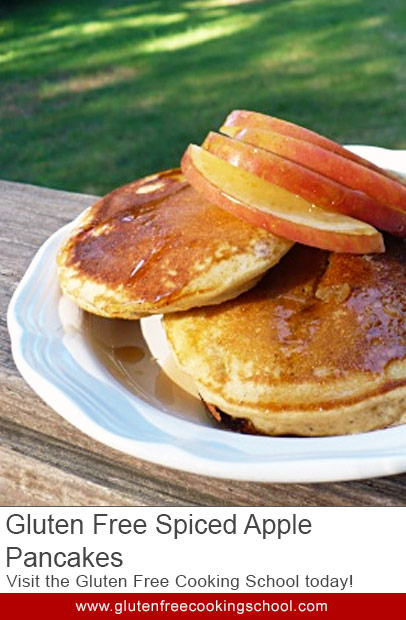gluten free spiced apple pancakes recipe