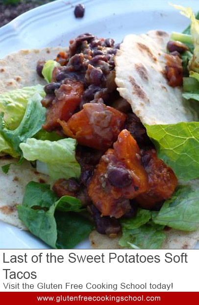 gluten free sweet potatoes soft tacos recipe