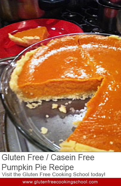 gluten free casein free pumpkin pie recipe
